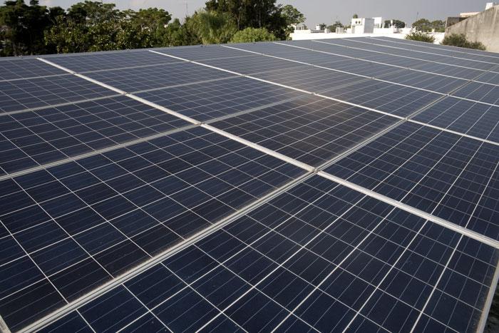 Medio ambiente paneles solares