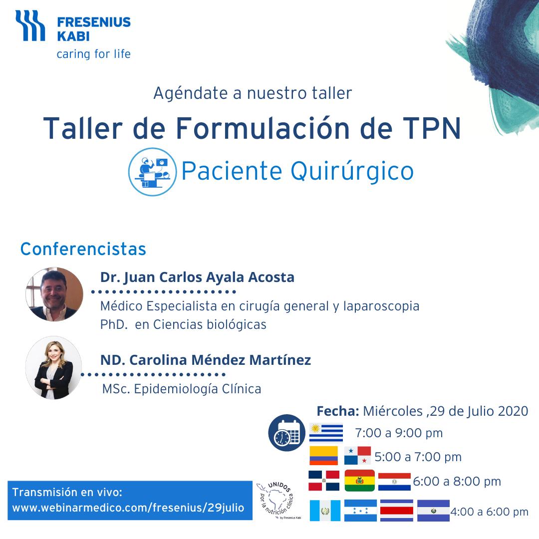 Invitación TPN Quirúrgico 29 julio