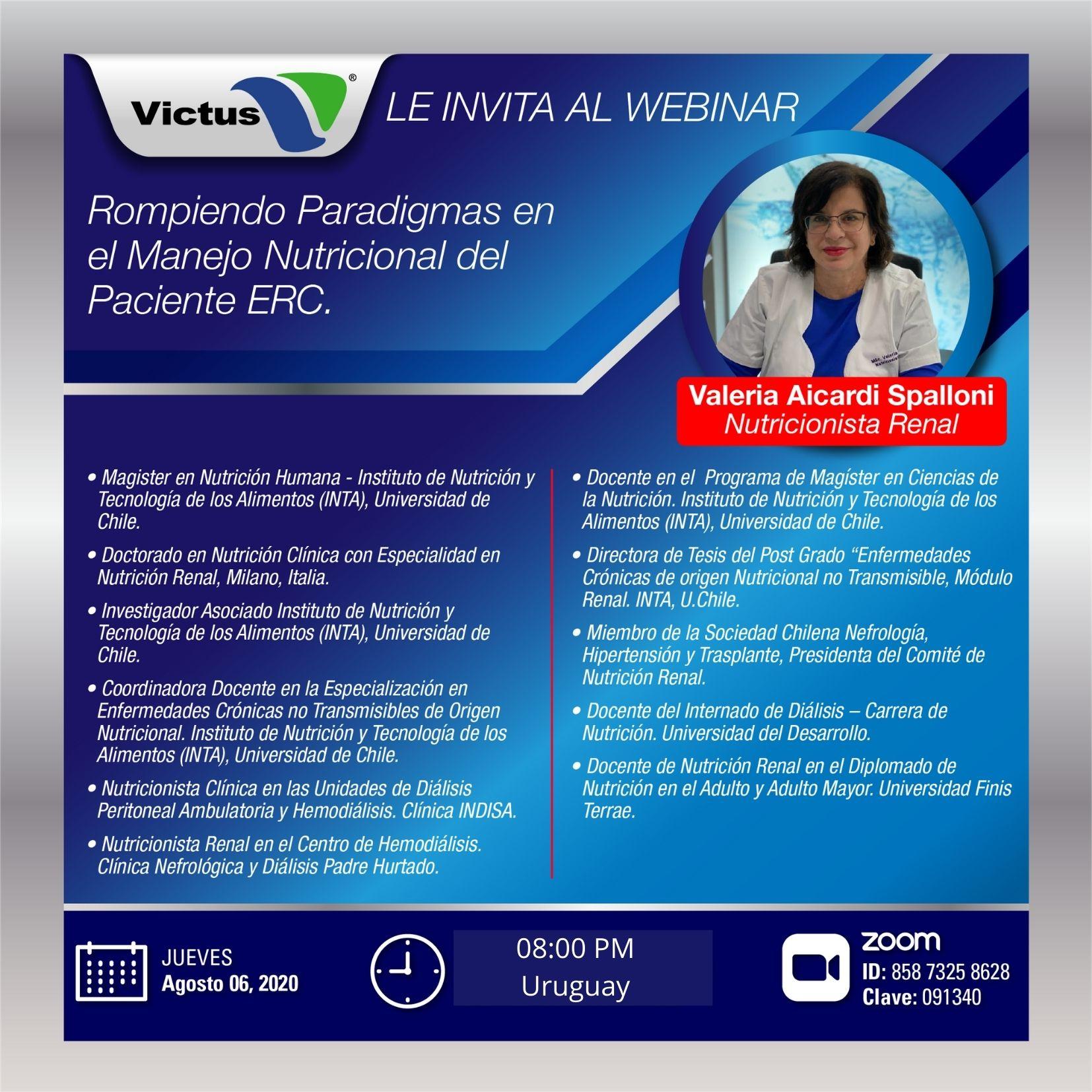 Webinar jueves 6 de agosto Dra. Valeria Aicardi